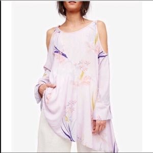 NWT Free People Clear Skies Printed Tunic in Lilac